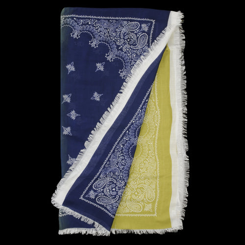 Bandana Two Tone Stola in Navy & Avocado