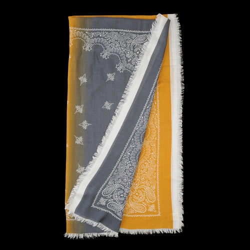 Bandana Two Tone Stola in Grey & Turmeric