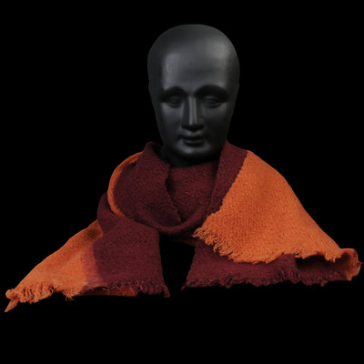 Destin - Buddybi Scarf in Burgundy & Terracotta