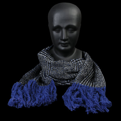 Destin - Fringes Prince Scarf in Blue