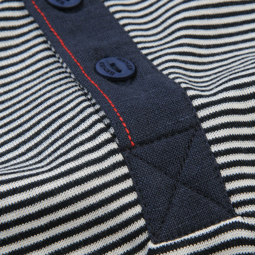 Harri Henley in Fine Stripe Marine