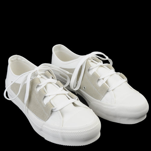 Asymmetric Ghillie Sneaker in White