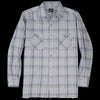 Needles - Cotton Herringle Cut-Off Bottom Regular Collar Shirt in Grey