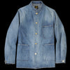 Needles - Vintage 10.5oz Denim D.N. Stand Collar Coverall in Indigo