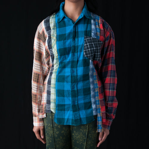 7 Cuts Flannel Gather Shirt in Multi