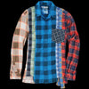 Needles - 7 Cuts Flannel Gather Shirt in Multi