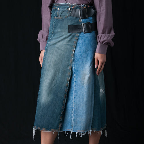 501 Wrap Skirt in Blue