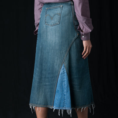 Needles - 501 Wrap Skirt in Blue