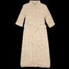 Corridor - Silk Tussa Long Button Dress in Natural