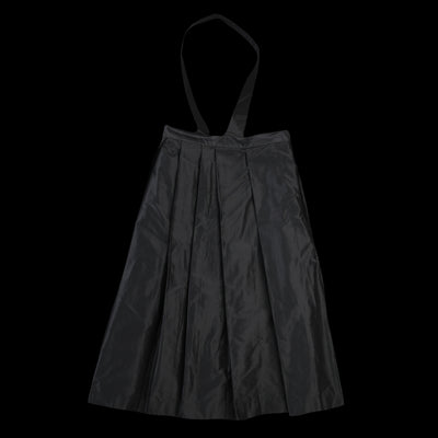 Toujours - Silk Taffeta One Shoulder Random Pleated Skirt in Black