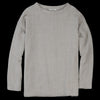Toujours - Wool Alpaca Gauze Long Sleeve Big Tee in Oatmeal
