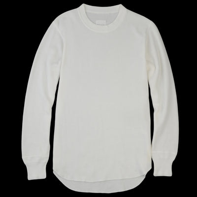 Toujours - Brushed Fine Cotton Thermal Jersey Undershirt in White