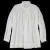 Toujours - Silk Cotton Triple Yarn Faille Frill Collar Surplice Shirt in Cloud