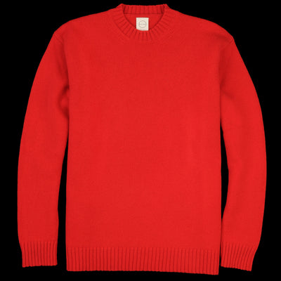 Country of Origin - Staple Lambswool Sweater in Red