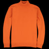 Country of Origin - Staple Lambswool Funnel Neck Sweater in Orange