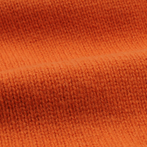 Staple Lambswool Funnel Neck Sweater in Orange