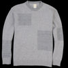 Country of Origin - Fleece Patch Boro' Boro' Lambswool Sweater in Grey