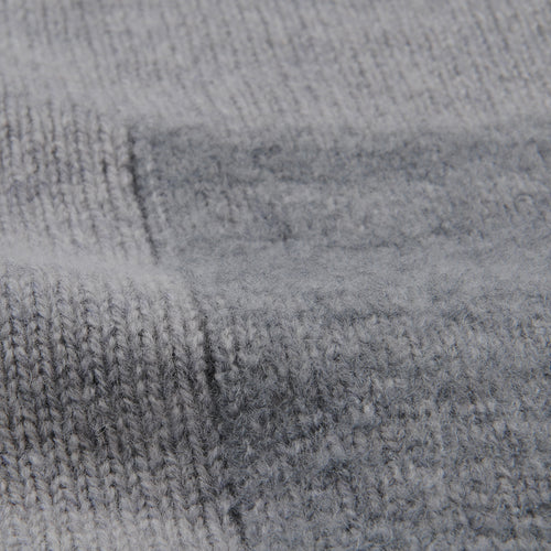 Fleece Patch Boro' Boro' Lambswool Sweater in Grey