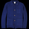 Country of Origin - Lambswool Knitted Chore Jacket in Light Navy