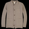 Country of Origin - Lambswool Knitted Chore Jacket in Mushroom