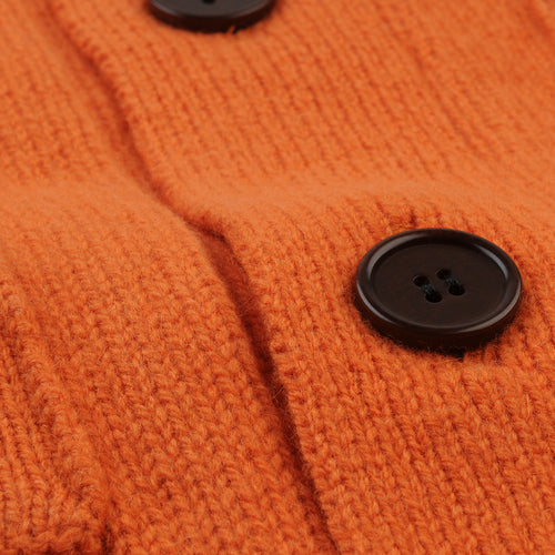 3 Ply Cardigan in Orange
