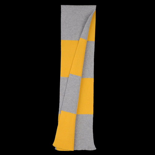 Stripe Scarf in Grey & Yellow