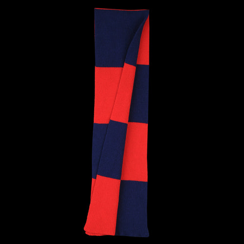 Stripe Scarf in Navy & Red