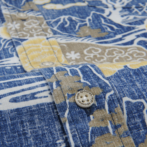 Year of the Boar Tailored Shirt in Medieval Blue