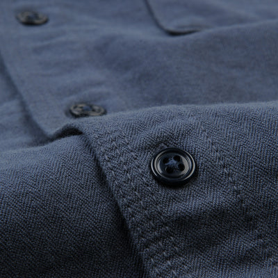 Home Work - Herringbone Overshirt in Marine