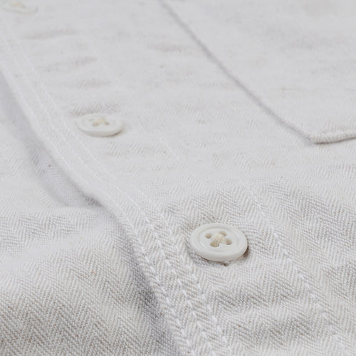 Herringbone Overshirt in White