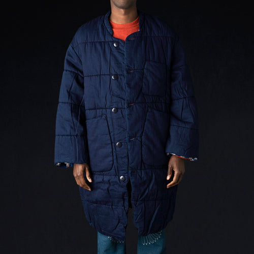 8oz IDGxIDG Denim Quilt SAMU Coat in Indigo