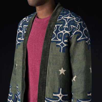 Kapital - Wool AINU Betsy Ross SHA-KA Coat in Green