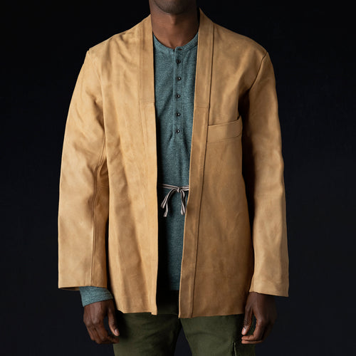 Roughout Leather SHA-KA Jacket in Camel