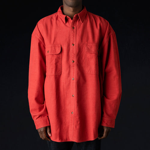 CPO Cotton Wool GRANDE Work Shirt in Red