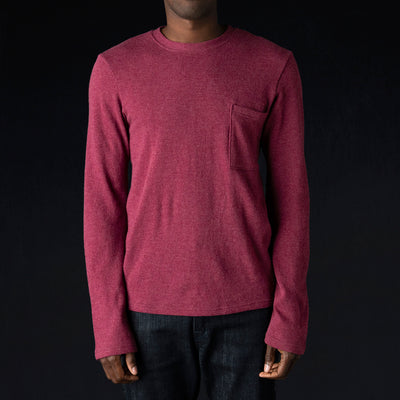Kapital - Lamb Wool Jersey Long Sleeve Crew Tee in Purple