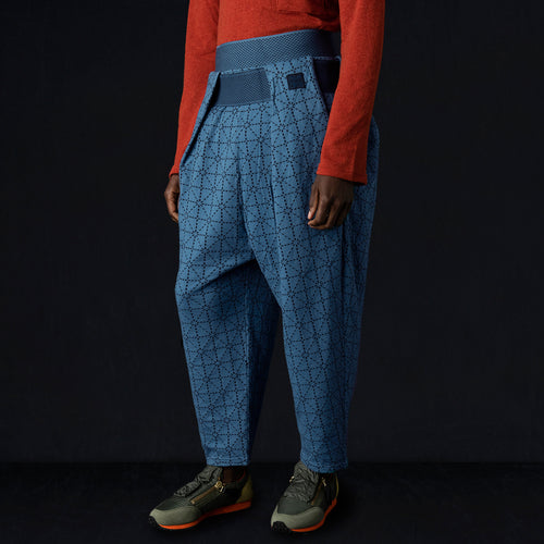 DO-GI Sashiko Jersey SHIMOKITA Cropped Pant in Blue