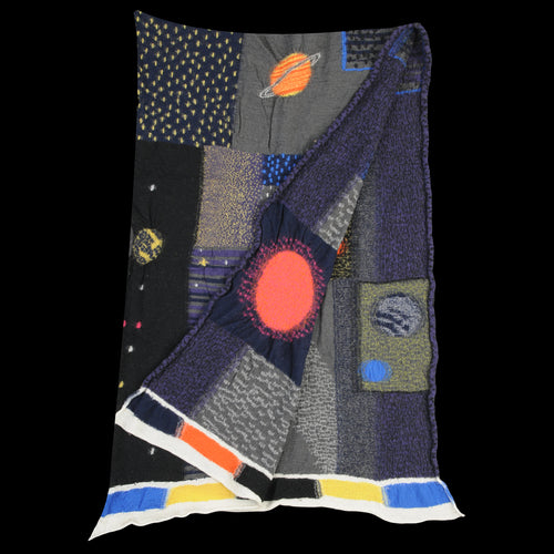 Compressed Wool COSMIC GABBEH Scarf in Black