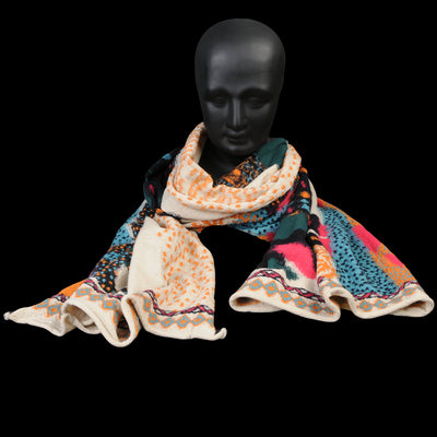 Kapital - Compressed Wool DOS DACHSHUNDS Scarf in Ecru