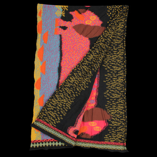 Compressed Wool DOS DACHSHUNDS Scarf in Black