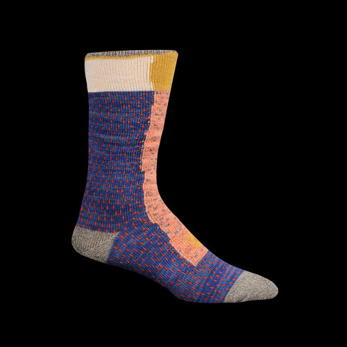 96 Yarns Gabbeh Patchwork Socks in Grey