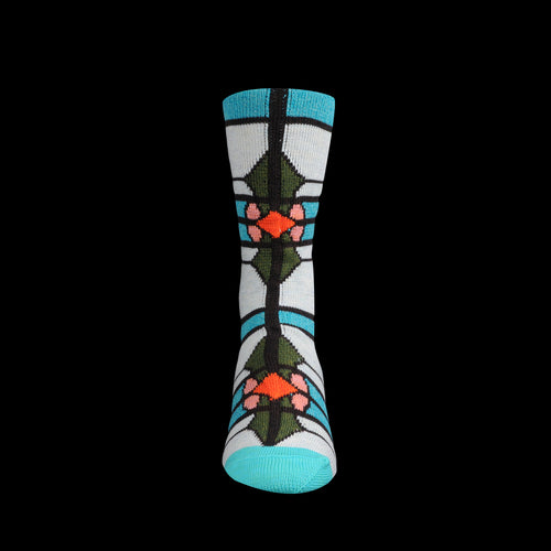 96 Yarns Stained Glass Sock in Turquoise