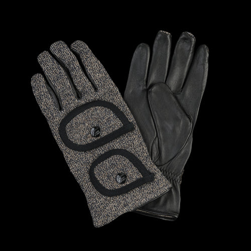 Leather x BEACH Knit Gloves in Charcoal