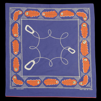 Kapital - Sleep Fastcolor Selvedge Bandana in Purple Navy
