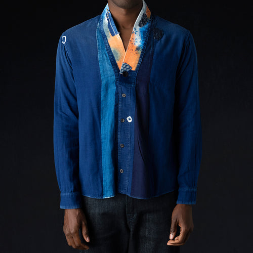 IDG Double Gauze Remake JUDBHAN Shirt in Indigo