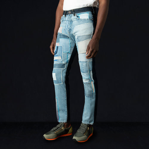 Denim Patchwork Remake 2TONE OKABILLY Jean in Pro