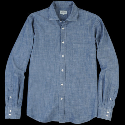 Hartford - Triple Stone Paul Shirt in Chambray