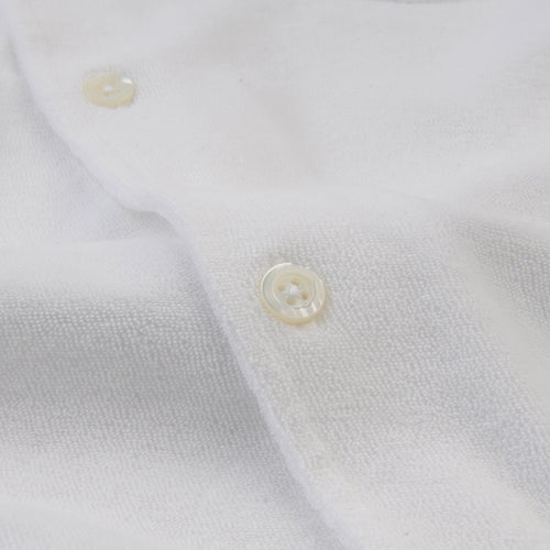 Bouclette Chemisette Polo in White