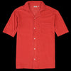 Hartford - Bouclette Chemisette Polo in Tomato