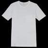Hartford - Bouclette Pocket Crew Tee in White