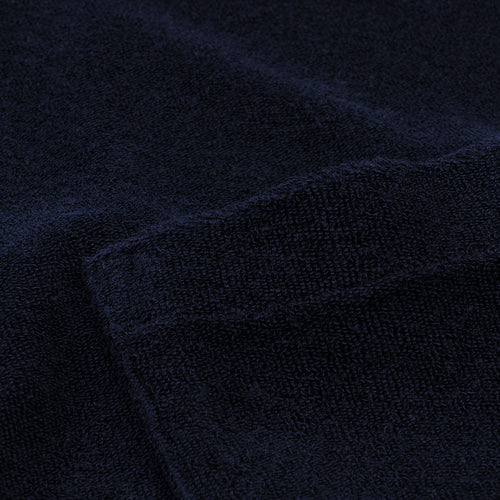 Bouclette Pocket Crew Tee in Dark Blue